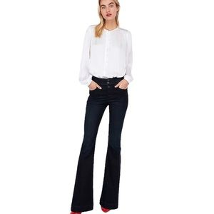 Express high waisted flare jeans. Button fly.Flare